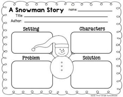 story structure graphic organizer included in winter writing
