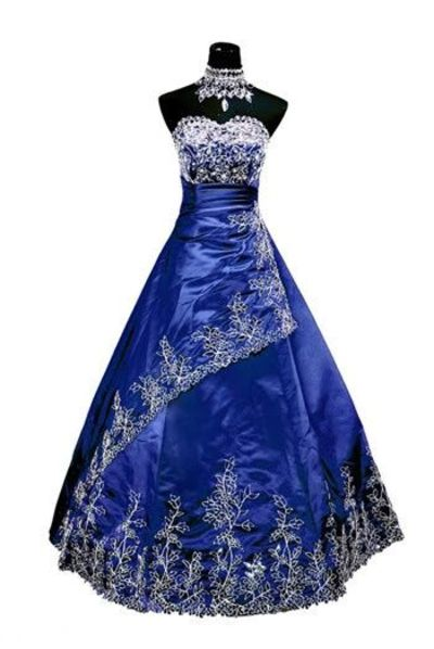 TARDIS blue wedding dress. I now want to get married all over again, just so I can have this dress!