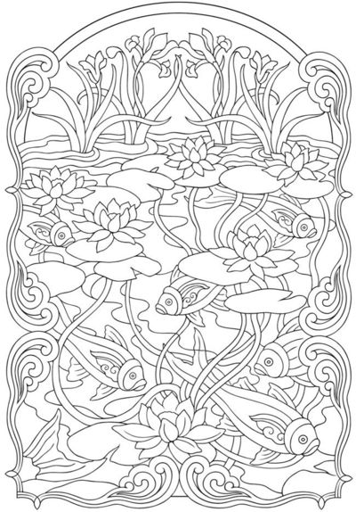 Art Nouveau Animal Designs Coloring Book By Dover