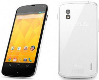 Nexus 4 White Officially Launched