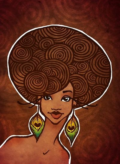 Afro Woman Drawing by Tyler Amato Afro Black