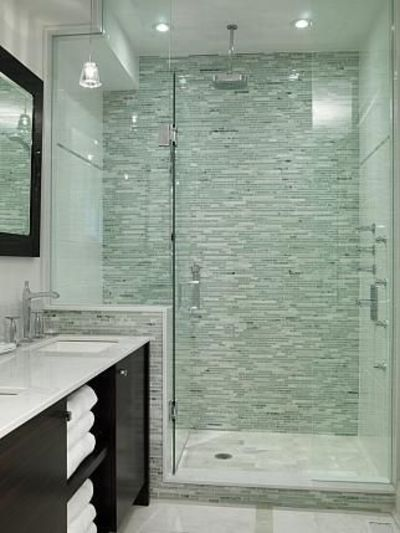 Master bathroom sarah richardson design shower tile for Bathroom ideas for couples