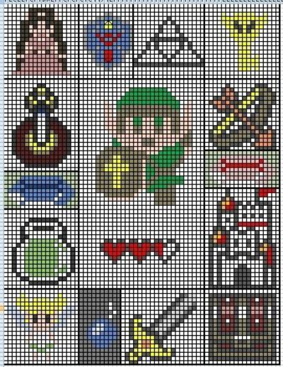 legend of zelda knit or crochet blanket? I think yes. / crochet ideas and tip...