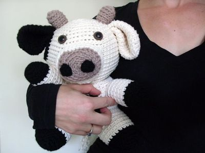 Free Crochet Animal Patterns Cow Crochet Pattern Stuffe