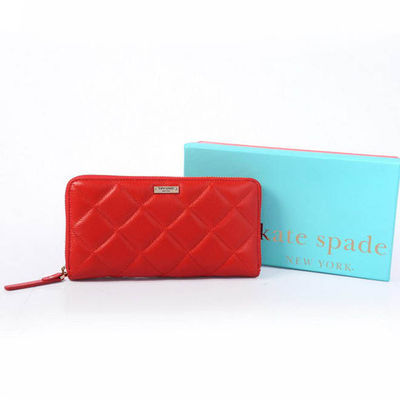 Kate Spade Gold Coast Lacey Leather Zip Around Wallet Red