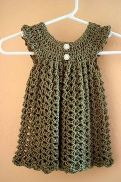Crochet Dress : Crochet baby dress - Free Pattern by kitty / knits and kits ...