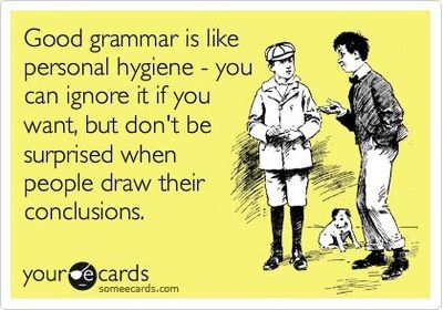 Person Persons Grammar Good Grammar is Like Personal