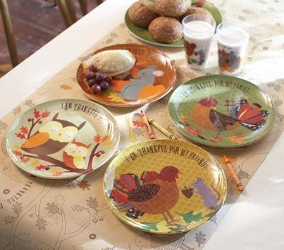 Awesome Thanksgiving Plate Sets From Pottery Barn Kids. Melamine Plates In 4  Designs. (Also