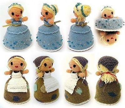 Cinderella Topsy Turvy Doll Free Crochet Pattern From The Y