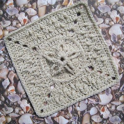 Rebby S Sand Dollar With Seagull Tracks Free Crochet Pa