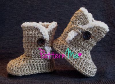 1d6435ea652 Crochet Baby Boot Pattern Ugg Inspired by PatternMa on Etsy ...