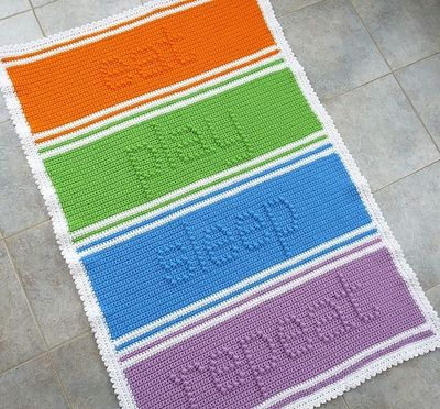 Ravelry: Eat - Play - Sleep - Repeat Baby Blanket pattern by Doni Speigle