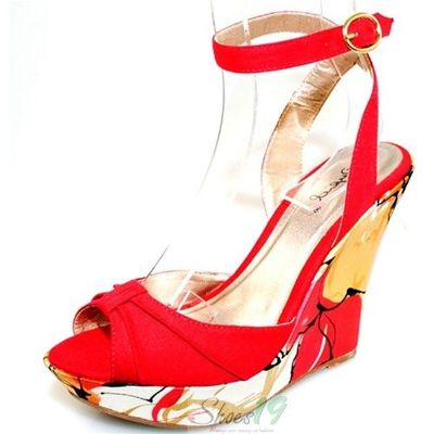Ceduce-244 Red Platform Wedges Qupid Shoes $24.99 Clubbing Wedding Prom Fashion Style Bridal Interview Work