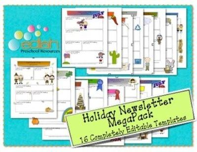 Holiday Newsletter Template Mega Pack   Newsletter Templ