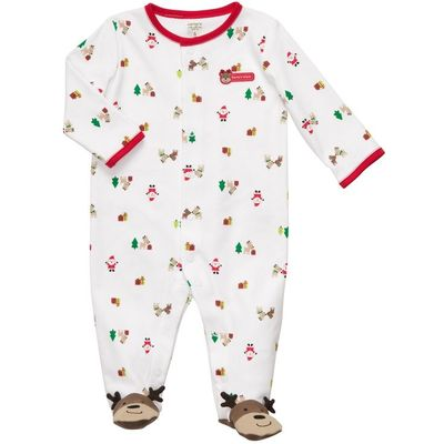 Cotton Snap-Up Sleep & Play | Baby Girl Pajamas