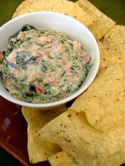 Cheesy Spinach and Bacon Dip!! Made with our NEW Cheddar Bacon Burger Seasoning! www.Facebook.com/wildtreeofficial