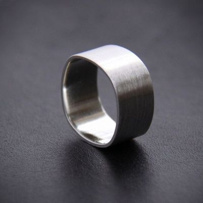 Wide sterling silver ring for men or for women by bluehourdesigns, $44.20