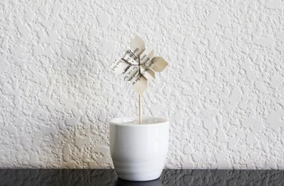 12 Cupcake toppers Origami flowers hydrangea with wooden picks Wedding favors -vintage style book. $13.20, via Etsy.