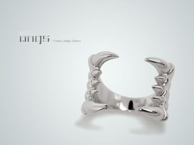 "Sterling Silver ""Fang"" Ring"