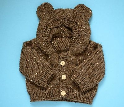 Baby Hoodie Knitting Pattern Free : Free knitting pattern : Toddler Bear Hoodie. I have to learn... / baby time! ...