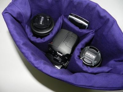 Camera Bag DSLR Carrier purse padded camera carrier by DarbyMack, $40.00