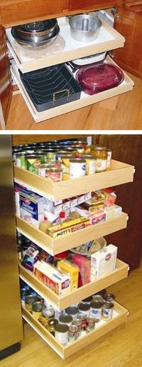 Pull-Out Cabinet Drawer Shelves
