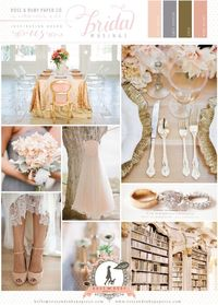 Peach and Gold Wedding Inspiration by