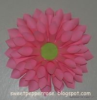 How to make a Big Pink Flower out of paper