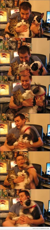 taking photos with your pets...