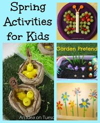 spring themed Kids activities with giveaway!