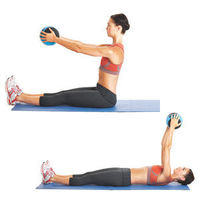 Roll Back and Up - core strengthening with medicine ball