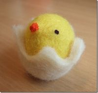 how to make a little chick for Easter