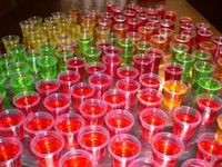All kinds of drink jello shots recipes. Sex on the beach, rum and coke, lemon drops, etc.