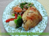 Citrus Herb Chicken   Freezer Cooking from Once A Month Mom #wholefoods