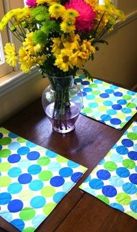 Easy quilted reversible placemats