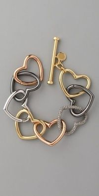 Love Edge Tumbled Pave Heart bracelet from Marc Jacobs