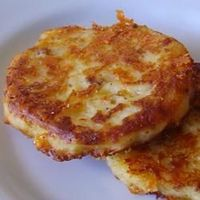 Bacon Cheddar Potato Cakes - made from leftover mashed