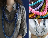 Here is a great and a quick dye tutorial that gives unfinished beads a beachy, weathered look!