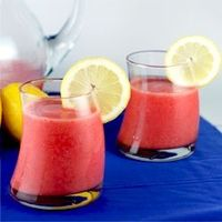 Frozen Strawberry Lemonade - sweet, tangy, refreshing!