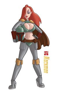 Jessica rabbit in Boba Fett costume by Hackman23 (Star Wars / Who Framed Roger Rabbit / Mashup)