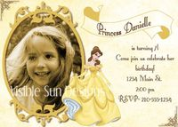 Disney Princess Birthday Invitation (really beautiful)