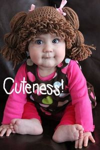 Crocheted Cabbage Patch Kids wig