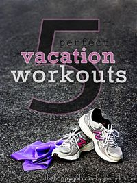 Great cardio and resistance workouts that you can do anywhere. Just need your tennis shoes and an exercise band. #workout #vacation #healthy