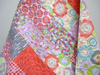 lavender and coral quilt - Google Search