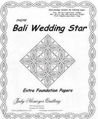 Bali Wedding Star Quilt Pattern Foundation Paper