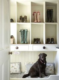 mudroom dog bed