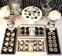 Dessert table at a New Year's Party #newyears #desserts