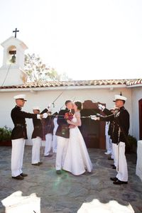 the arch of swords; a military wedding tradition. { Embrace Life Photo }