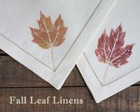 diy leaf pressed napkins