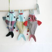 Along with my Fish friend - Drawstring backpack for children- Nursery - Made to order. �'�35.00, via Etsy.